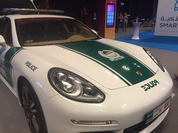 One of Dubai's connected police cars