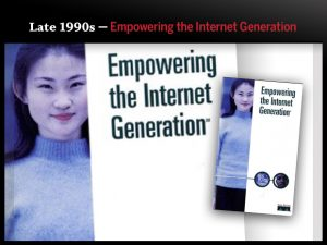 Late 1990s — Empowering the Internet Generation