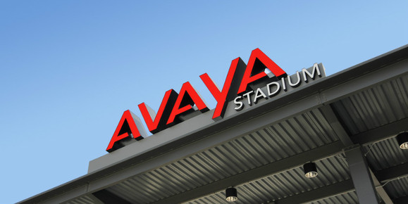 The sign at Avaya Stadium, home of the San Jose Earthquakes soccer team. Credit: Avaya